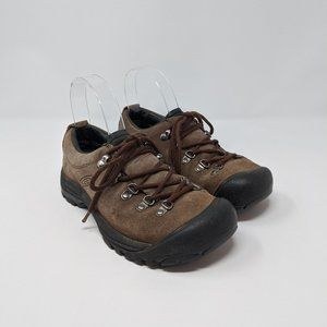 Keen Brown Suede Lace Up Hiking Shoes Women's Sz 6